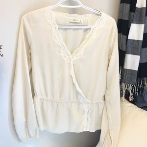 Abercrombie and Fitch blouse ivory